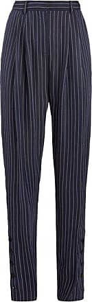 Altuzarra Lidig High-rise Pinstriped Twill Trousers - Womens - Navy Stripe
