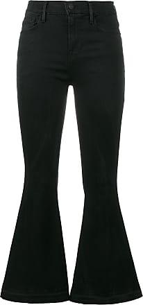Frame Denim le crop bell flared jeans - Black
