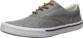 Sperry Top-Sider Sperry Mens Striper II CVO Washed Sneaker, Grey Grey, 8 UK