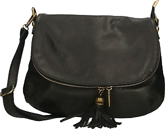 Chicca Borse Aren - Womans crossbody clutch shoulder strap in genuine leather made in italy - 28x22x5 Cm