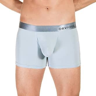 Obviously Mens PrimeMan AnatoMAX Boxer Brief 3inch Leg - Ice Silver - Medium