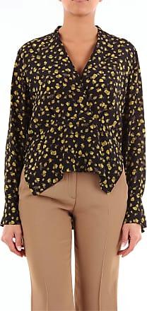 Erika Cavallini Semi Couture Bluse Nero e giallo