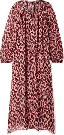 Stella McCartney Lace-up Leopard-print Silk-chiffon Kaftan - Antique rose
