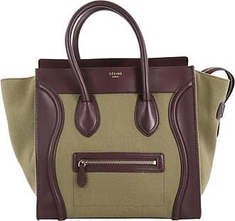 d5b7407340b4 Celine Luggage Handbag Canvas And Leather Mini