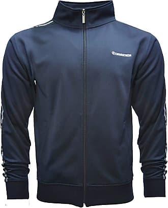 Lambretta Mens Taped Tracksuit Top Zip Up Retro Jacket Coat 2XL Blue