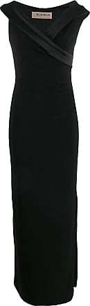 Blanca fitted evening dress - Preto
