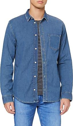 Pepe Jeans London Mens Portland Casual Shirt, Blue (Medium Used 000), XXX (Size: XX-Large)