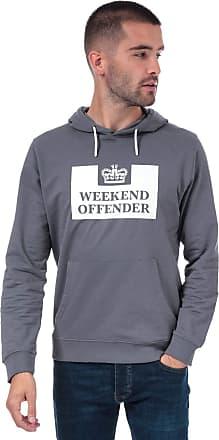 Weekend Offender Mens Mens Kirin Logo Hoody in Grey - 2XL