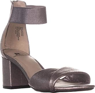 White Mountain Womens Ever Fabric Open Toe Casual, Antique Silver, Size 5.5 US/US