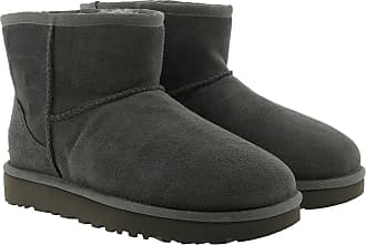 UGG Boots & Booties - Classic Mini Rubber Logo Boot Grey - grey - Boots & Booties for ladies