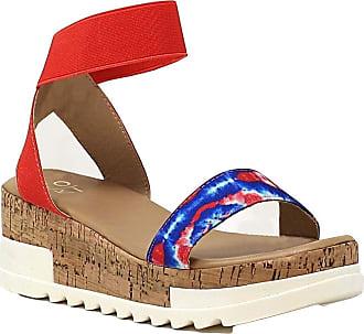 Yoki Womens BRENDA-10 Flat Sandal, Tie Dye, 4.5 UK