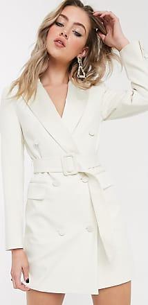 Topshop tux blazer dress in ivory-White