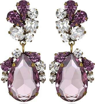 Sequin Amethyst Juicy Crystal Drop Earrings