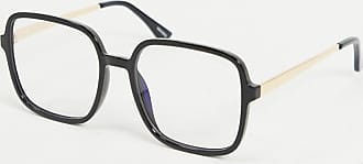Quay 9-5 Square blue light lens glasses in black