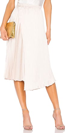 Vince Mixed Pleat Skirt in Beige