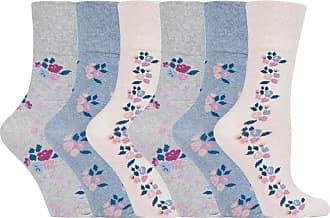 SockShop 6 pairs Ladies SockShop Cotton Gentle Grip UK 4-8, EUR 37-42 Socks - NEW variations (6 x RH139)