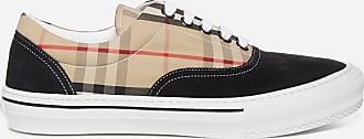 Burberry Vintage Check print canvas and suede sneakers - BURBERRY - man