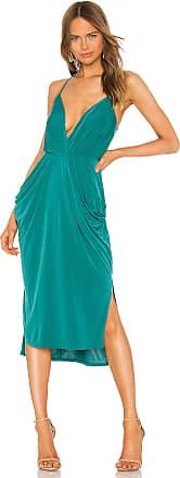 BCBGeneration Drape Side Midi Dress in Green