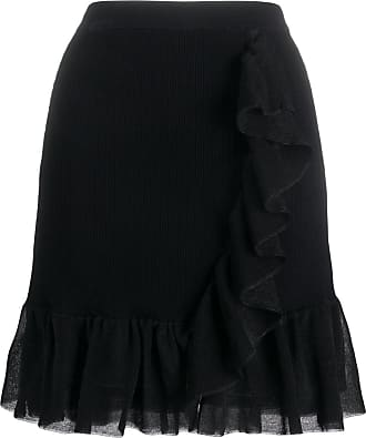 Sandro Laurene ruffle trim skirt - Black