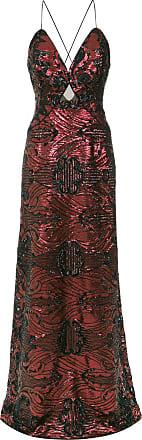 Tufi Duek Vestido longo bordado - Vermelho