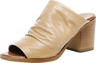 Inuovo Womens Slouchy Leather Block Heel Mules 8 Brown