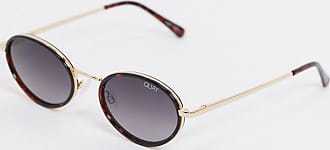 Quay Line Up oval sunglasses in brown tort