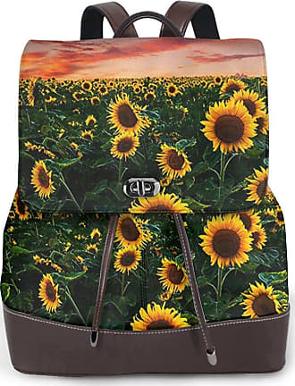 Backpack Rucksack Travel Daypack Sunset Sunflower Field Book Bag Casual Travel Waterproof