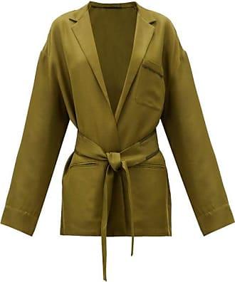 Haider Ackermann Belted-waist Twill Jacket - Womens - Khaki Multi
