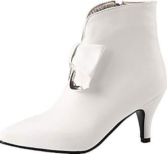 4398c05aab TAOFFEN Stiefeletten Damen Mode Kitten Absatz Kurzschaft Stiefel Pointed  Zehe Party Stiefel Winter Ankle Boots Bogen