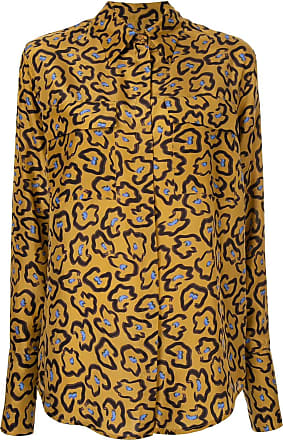 234d10be117 Christian Wijnants loose-fit printed shirt - Brown