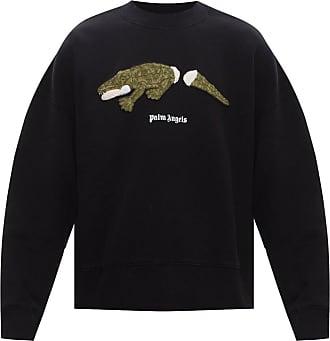 Palm Angels Sweatshirt With Animal Motif Mens Black