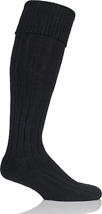 Glenmuir Mens 1 Pair Glenmuir Birkdale Cotton Cushioned Knee High Golf Socks Black 12-14