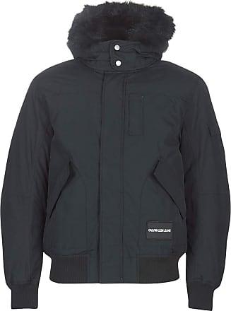 Calvin Klein Jeans Fur Trimmed Hooded Down Bomber Coats Hommes Black - L - Parkas