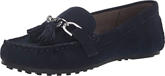 Aerosoles Womens Soft Drive Loafer, Navy Suede, 6 Wide
