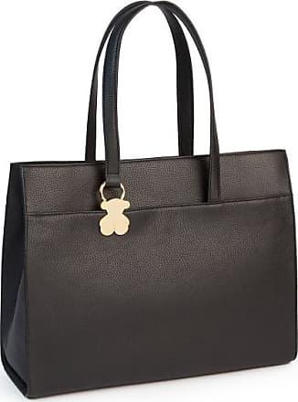 Tous Black Colored Leather Rosenda City Bag