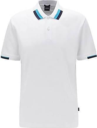 BOSS Poloshirt mit Colour-Block-Details