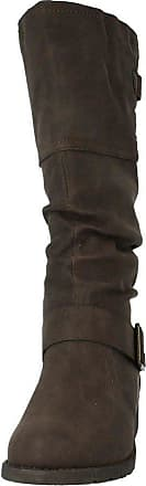 Spot On Ladies Spot On Calf High Boots F50321 Brown Size 8