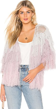 Chaser Quarter Sleeve Shaggy Cardigan in Lavender