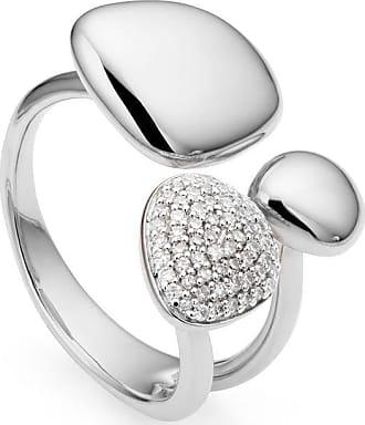 Monica Vinader Nura Pebble Cluster Diamond ring - SILVER