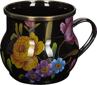 MacKenzie-Childs Flower Market Enamel Mug - Black