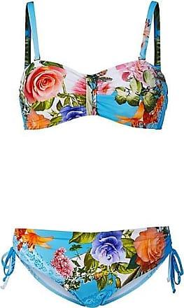 cdc46aac4372f Madeleine FÜRSTENBERG Bikini mit Blumenmuster Damen türkisblau/multicolor /  blau