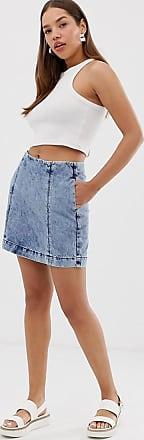 Noisy May Minigonna di jeans lavaggio acido-Blu