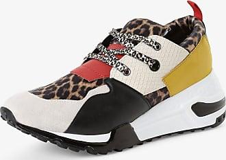 Steve Madden Damen Sneaker mit Leder-Anteil schwarz
