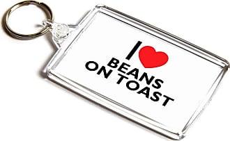 ILoveGifts KEYRING - I Love Beans On Toast - Novelty Food & Drink Gift