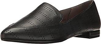 Aerosoles Womens Girlfriend Slip-On Loafer, Black Leather, 9.5 M US