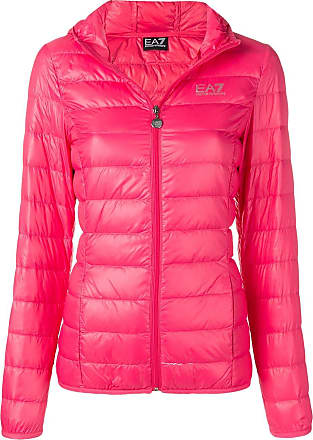 Emporio Armani hooded puffer jacket - Pink