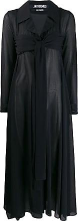 Jacquemus Vestido midi com detalhe de nó - Azul