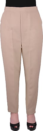Eyecatch Louisa Ladies Elasticated Waist Trousers Womens Pull On Easy Comfort Fit Regular Length Stone Size 14