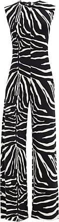 Norma Kamali Zebra-print Flared-leg Jersey Jumpsuit - Womens - Animal
