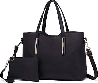 Quirk PU Leather Handbag & Purse - Black